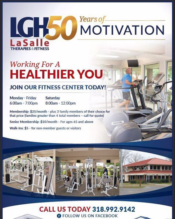 Did you know that we have a Fitness Center? Contact us for information on joining and improve you health in 2020!
